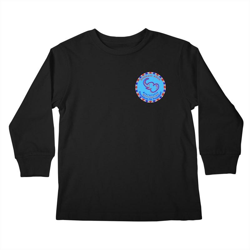 Elephant Adam - Heart Position - Altruistic Utilitarian Republican For President Kids Longsleeve T-Shirt by Ugovi Artist Shop