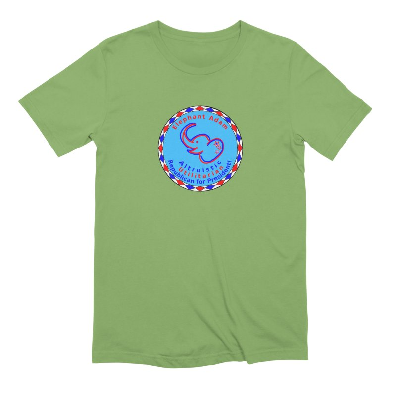 Elephant Adam - Chest Center - Altruistic Utilitarian Republican For President Men's Extra Soft T-Shirt by Ugovi Artist Shop
