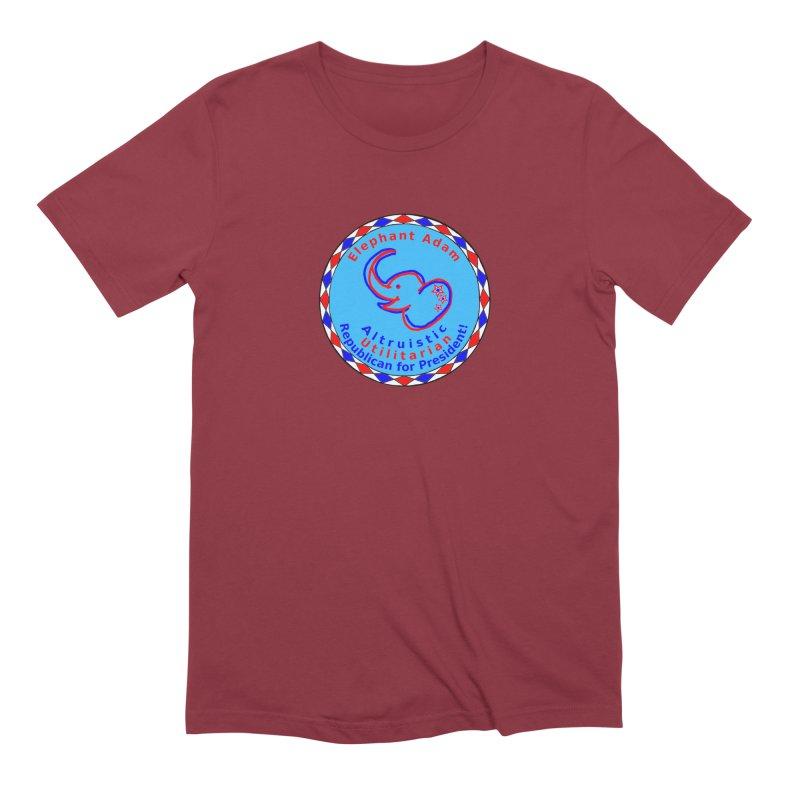 Elephant Adam - Chest Center - Altruistic Utilitarian Republican For President Men's Extra Soft T-Shirt by Ugovi Artist Shop