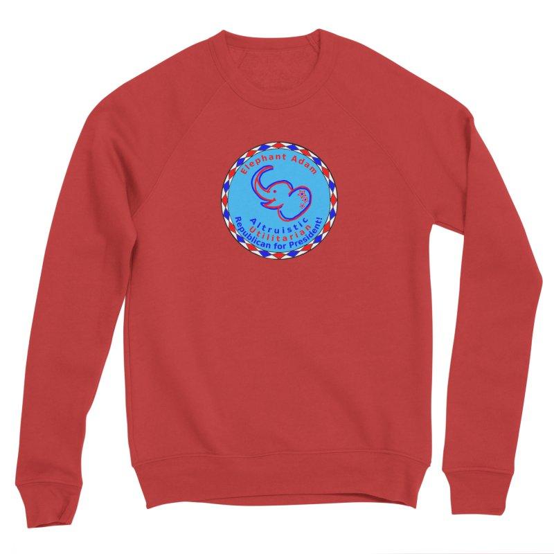 Elephant Adam - Chest Center - Altruistic Utilitarian Republican For President Men's Sponge Fleece Sweatshirt by Ugovi Artist Shop