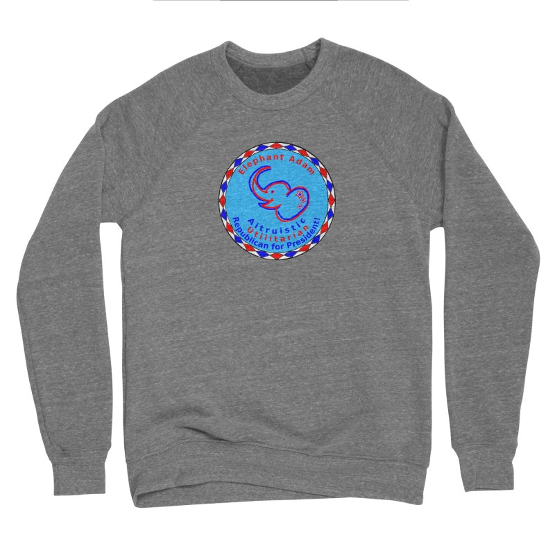 Elephant Adam - Chest Center - Altruistic Utilitarian Republican For President Women's Sponge Fleece Sweatshirt by Ugovi Artist Shop