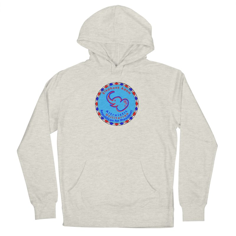 Elephant Adam - Chest Center - Altruistic Utilitarian Republican For President Men's French Terry Pullover Hoody by Ugovi Artist Shop