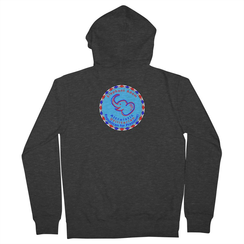 Elephant Adam - Chest Center - Altruistic Utilitarian Republican For President Men's French Terry Zip-Up Hoody by Ugovi Artist Shop