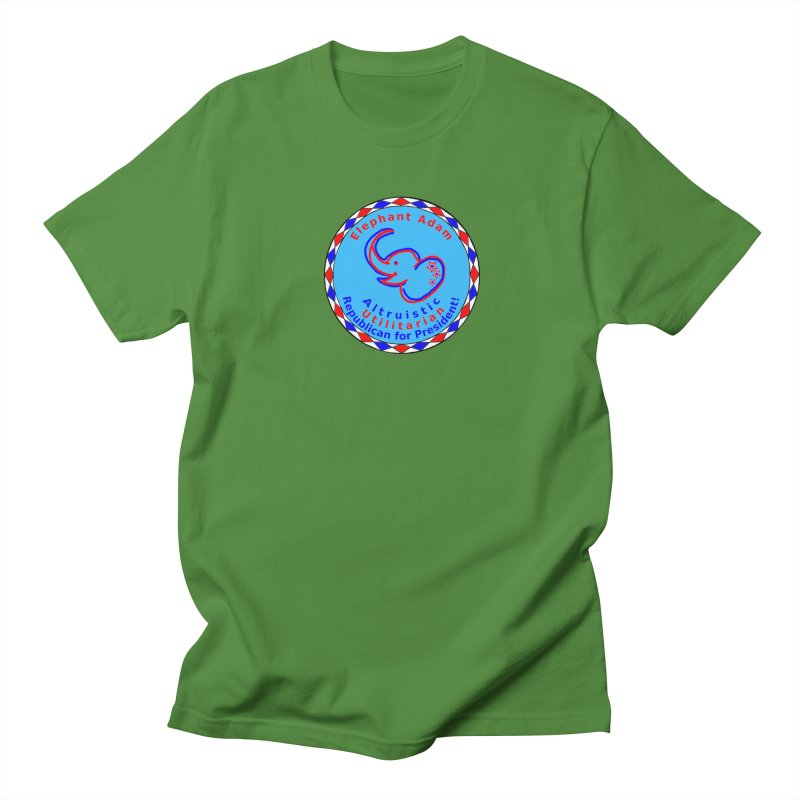 Elephant Adam - Chest Center - Altruistic Utilitarian Republican For President Men's Regular T-Shirt by Ugovi Artist Shop