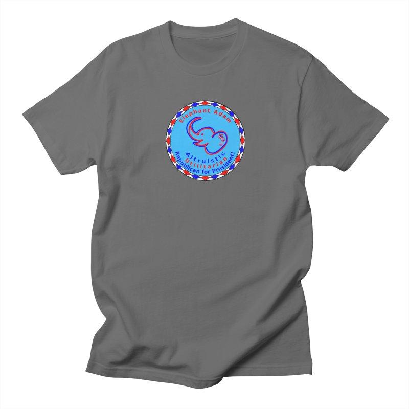 Elephant Adam - Chest Center - Altruistic Utilitarian Republican For President Men's T-Shirt by Ugovi Artist Shop