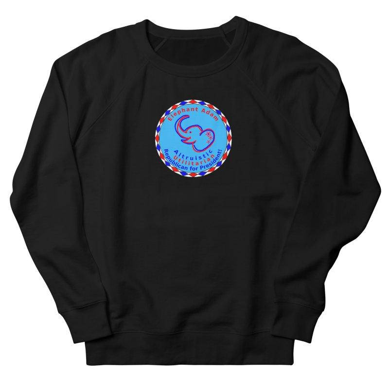 Elephant Adam - Chest Center - Altruistic Utilitarian Republican For President Women's French Terry Sweatshirt by Ugovi Artist Shop