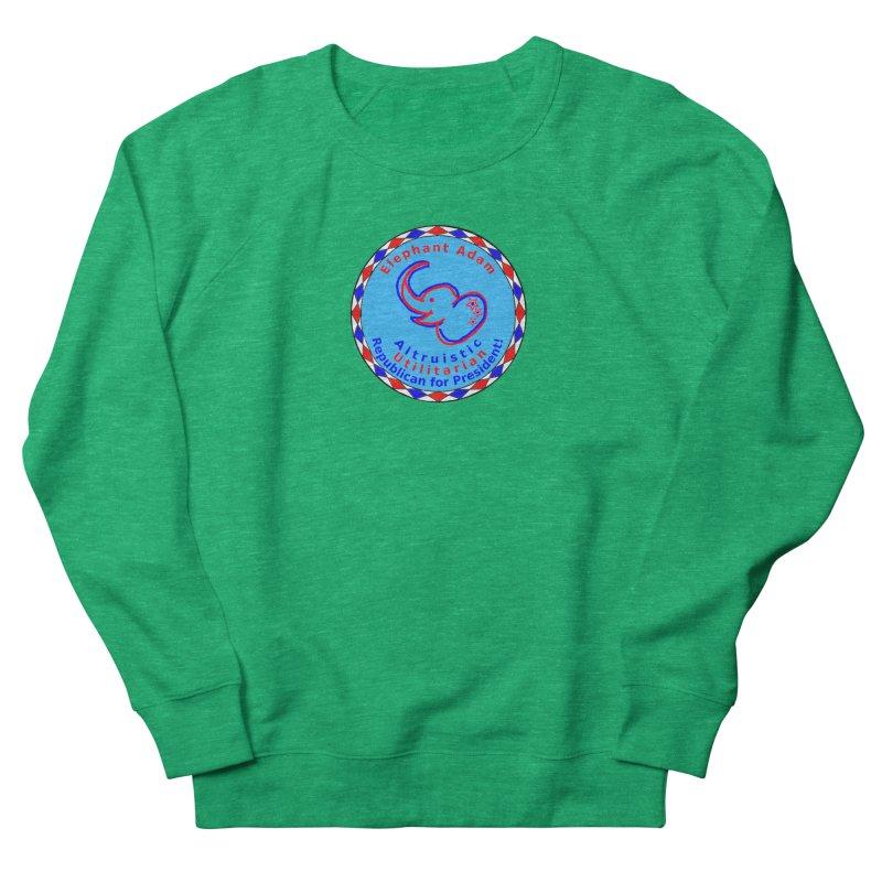 Elephant Adam - Chest Center - Altruistic Utilitarian Republican For President Men's French Terry Sweatshirt by Ugovi Artist Shop