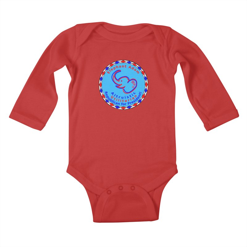 Elephant Adam - Chest Center - Altruistic Utilitarian Republican For President Kids Baby Longsleeve Bodysuit by Ugovi Artist Shop
