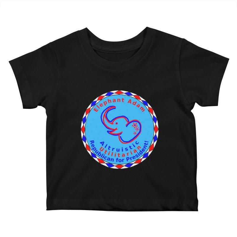 Elephant Adam - Chest Center - Altruistic Utilitarian Republican For President Kids Baby T-Shirt by Ugovi Artist Shop