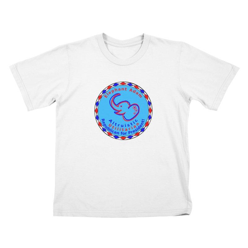 Elephant Adam - Chest Center - Altruistic Utilitarian Republican For President Kids T-Shirt by Ugovi Artist Shop
