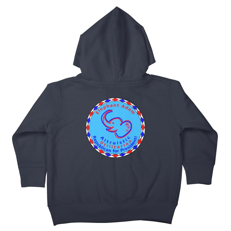 Elephant Adam - Chest Center - Altruistic Utilitarian Republican For President Kids Toddler Zip-Up Hoody by Ugovi Artist Shop