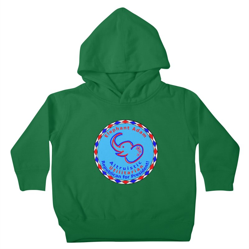 Elephant Adam - Chest Center - Altruistic Utilitarian Republican For President Kids Toddler Pullover Hoody by Ugovi Artist Shop