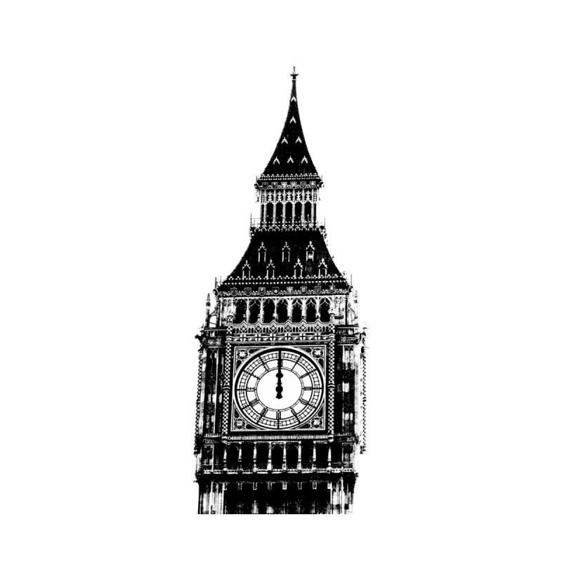 Big Ben Strikes Twelve by Ugovi Artist Shop