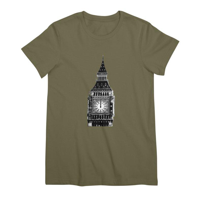 Big Ben Strikes Twelve Women's Premium T-Shirt by Ugovi Artist Shop