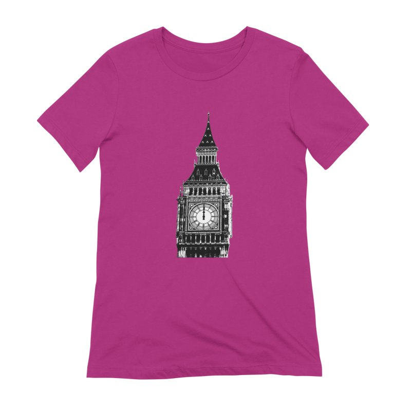 Big Ben Strikes Twelve Women's Extra Soft T-Shirt by Ugovi Artist Shop