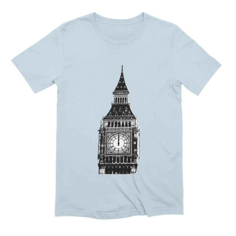 Big Ben Strikes Twelve Men's Extra Soft T-Shirt by Ugovi Artist Shop