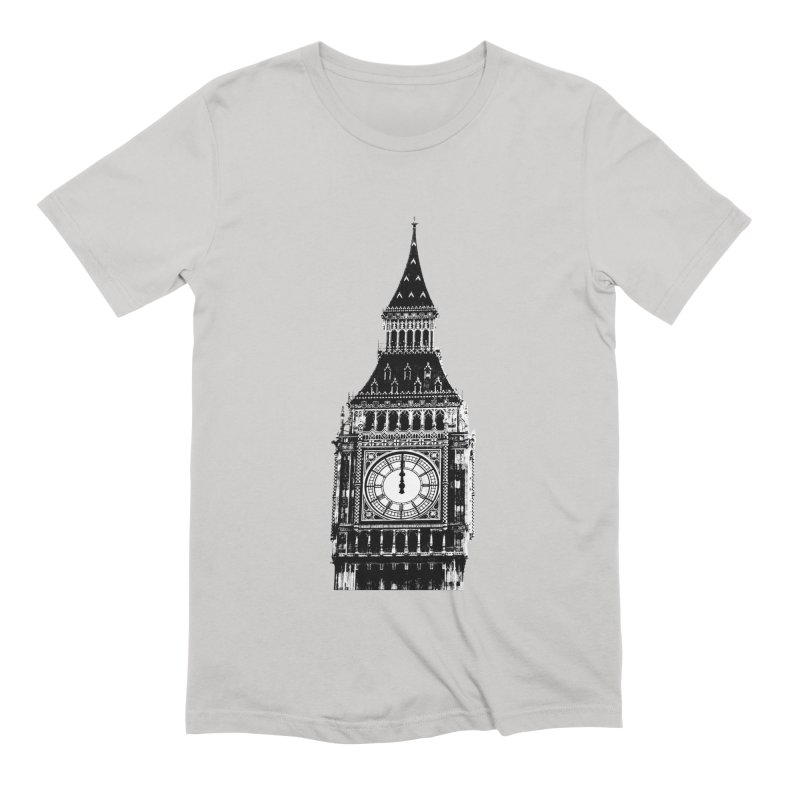 Big Ben Strikes Twelve Men's Extra Soft T-Shirt by Ugovi Artist Shop