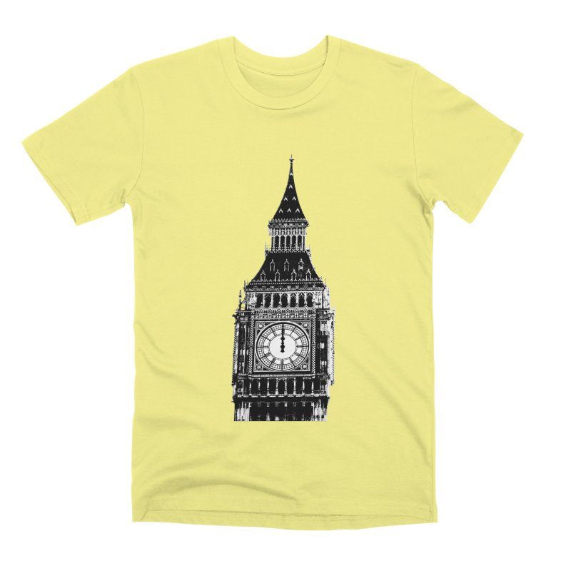 Big Ben Strikes Twelve Men's Premium T-Shirt by Ugovi Artist Shop