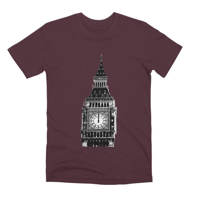Big Ben Strikes Twelve Men's Premium T-Shirt by Ugovi Artist Shop