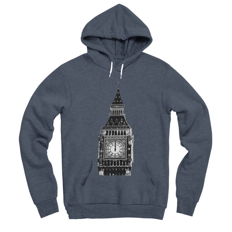 Big Ben Strikes Twelve Men's Sponge Fleece Pullover Hoody by Ugovi Artist Shop