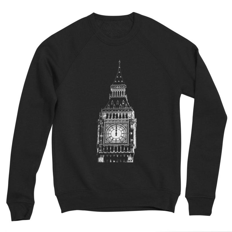 Big Ben Strikes Twelve Men's Sponge Fleece Sweatshirt by Ugovi Artist Shop