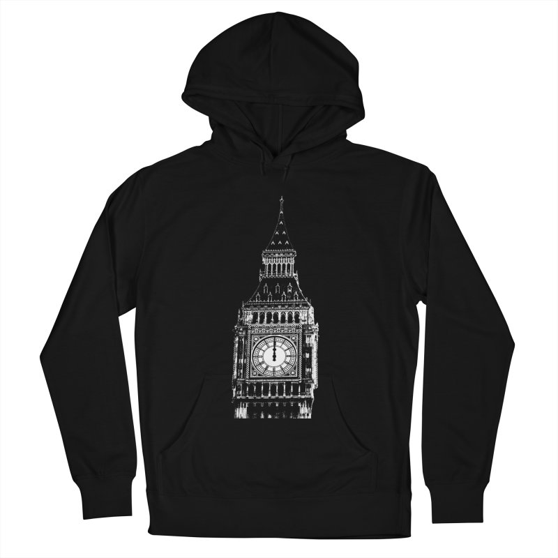 Big Ben Strikes Twelve Women's French Terry Pullover Hoody by Ugovi Artist Shop