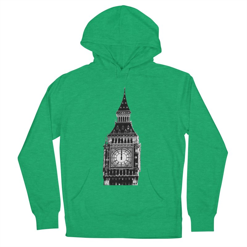 Big Ben Strikes Twelve Men's French Terry Pullover Hoody by Ugovi Artist Shop