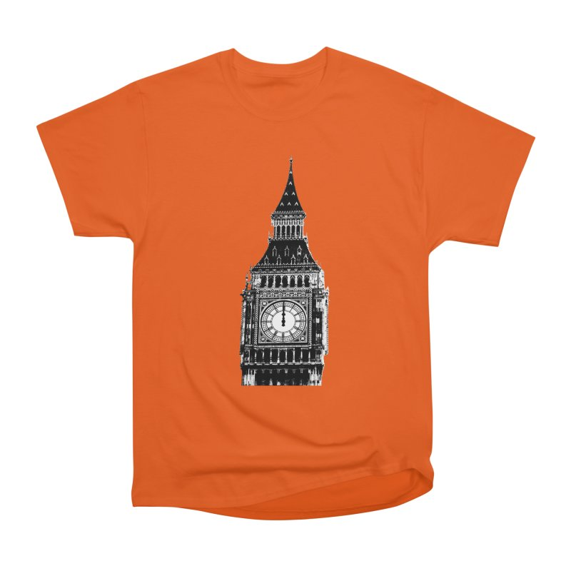 Big Ben Strikes Twelve Men's Heavyweight T-Shirt by Ugovi Artist Shop