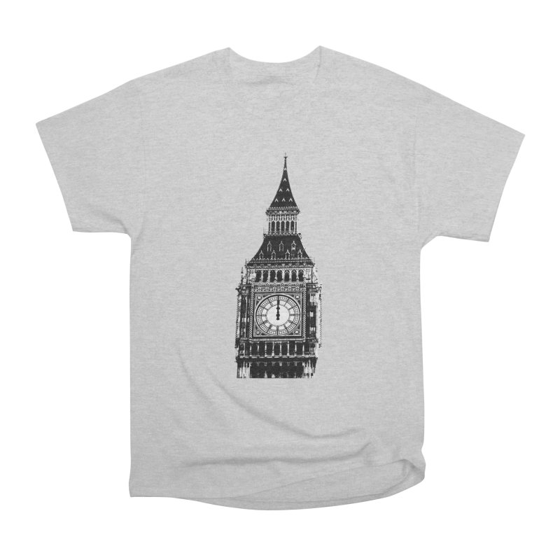 Big Ben Strikes Twelve Men's Heavyweight T-Shirt by Ugovi Artist Shop