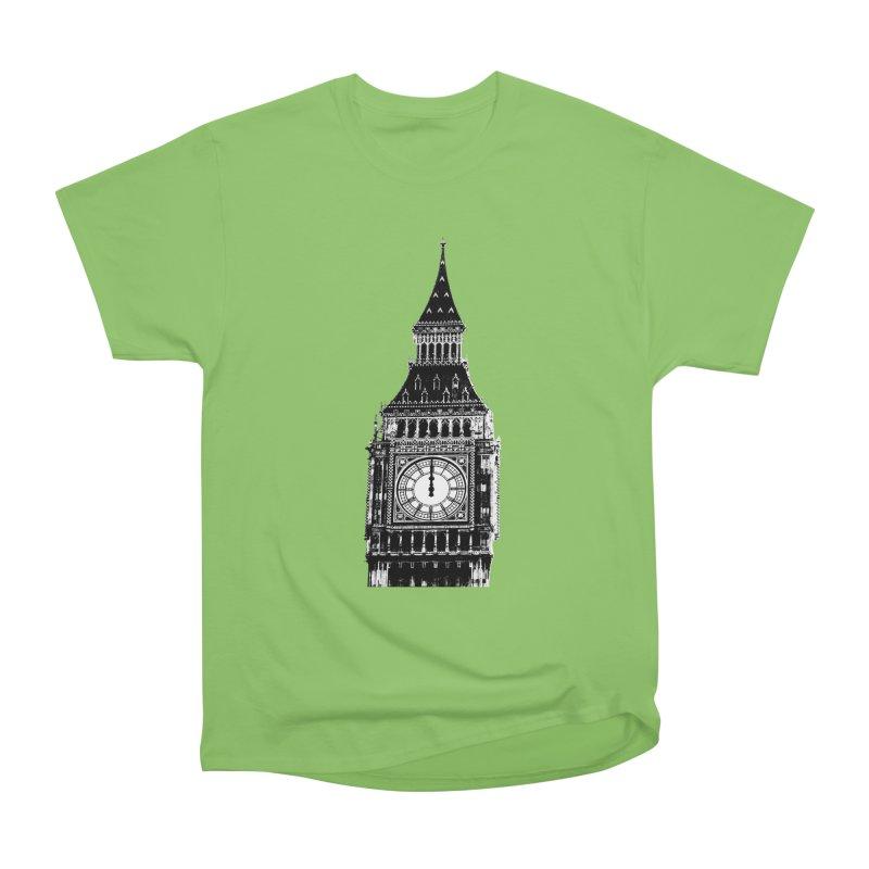 Big Ben Strikes Twelve Women's Heavyweight Unisex T-Shirt by Ugovi Artist Shop