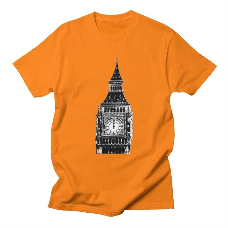 Big Ben Strikes Twelve Men's Regular T-Shirt by Ugovi Artist Shop