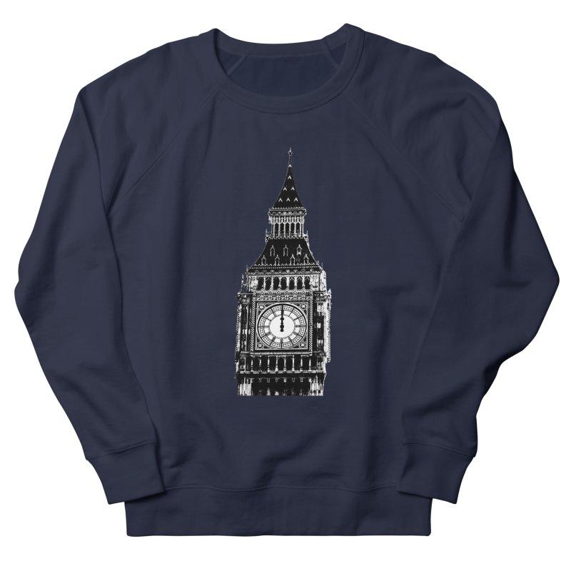 Big Ben Strikes Twelve Women's French Terry Sweatshirt by Ugovi Artist Shop