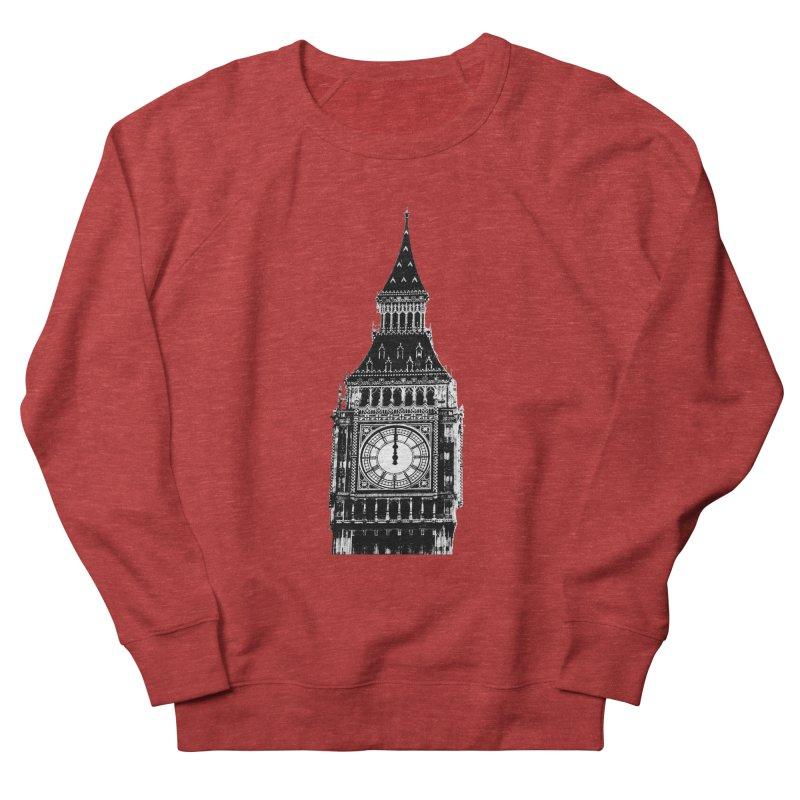 Big Ben Strikes Twelve Men's French Terry Sweatshirt by Ugovi Artist Shop