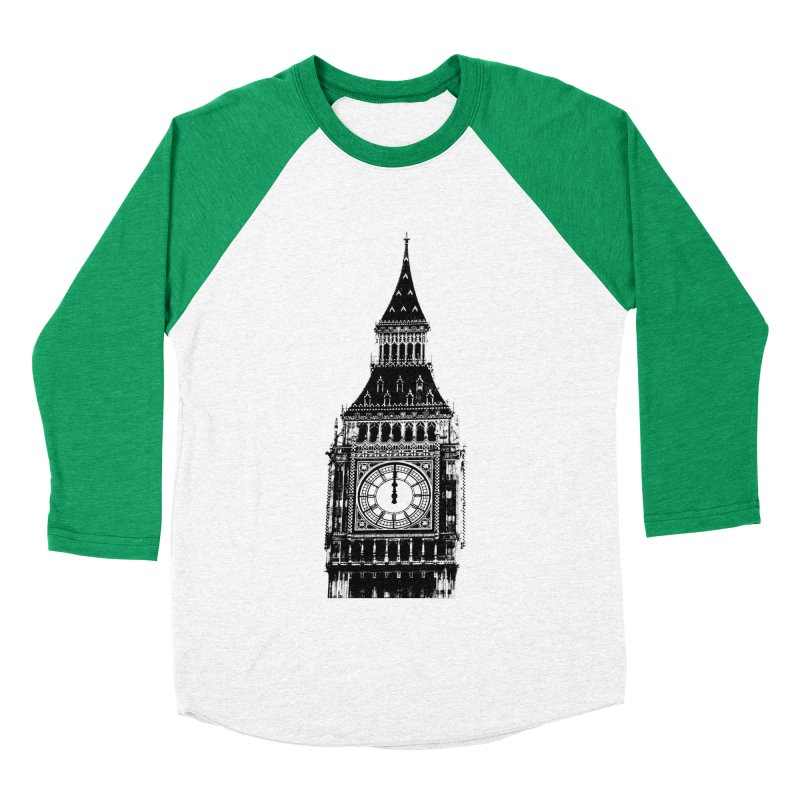 Big Ben Strikes Twelve Women's Baseball Triblend Longsleeve T-Shirt by Ugovi Artist Shop