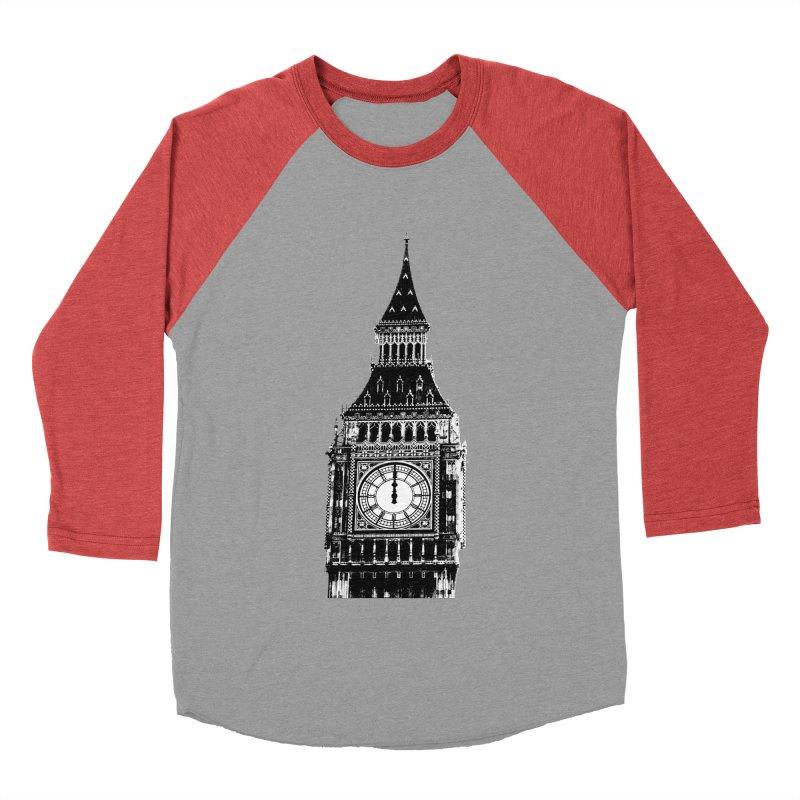 Big Ben Strikes Twelve Men's Baseball Triblend Longsleeve T-Shirt by Ugovi Artist Shop