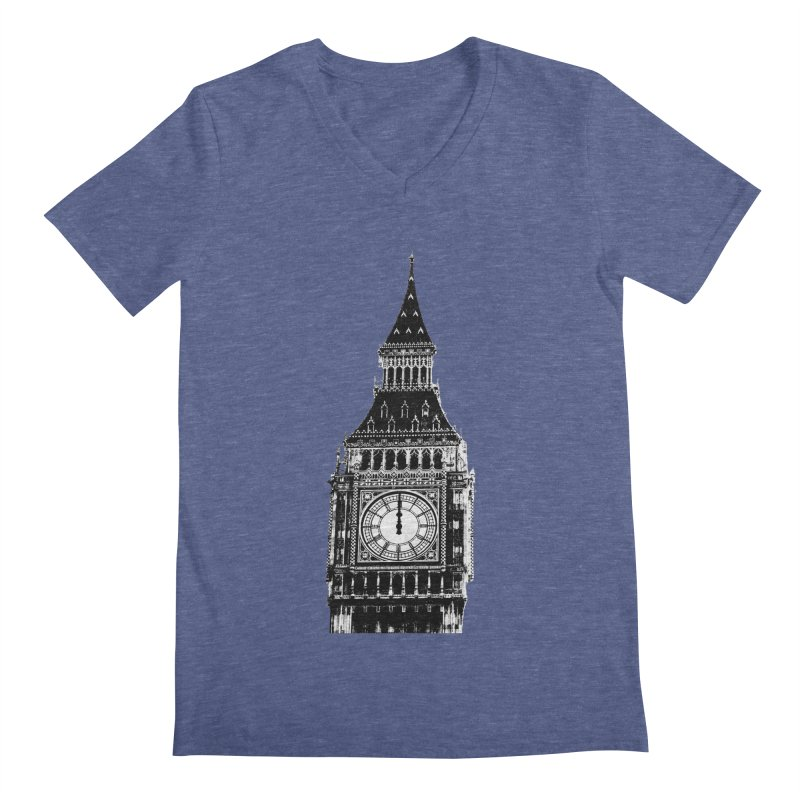 Big Ben Strikes Twelve Men's Regular V-Neck by Ugovi Artist Shop