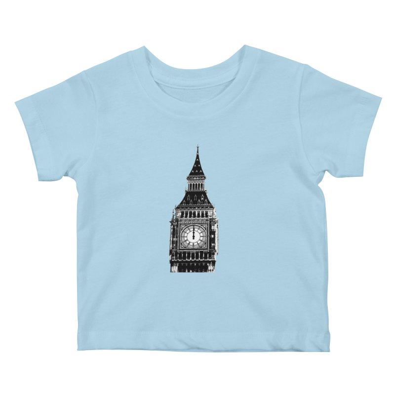 Big Ben Strikes Twelve Kids Baby T-Shirt by Ugovi Artist Shop