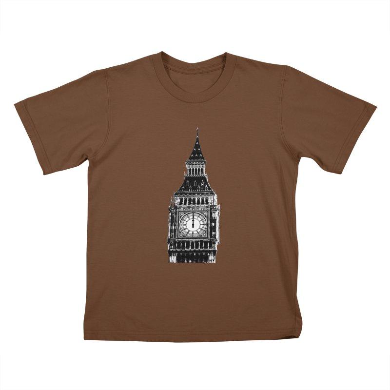Big Ben Strikes Twelve Kids T-Shirt by Ugovi Artist Shop