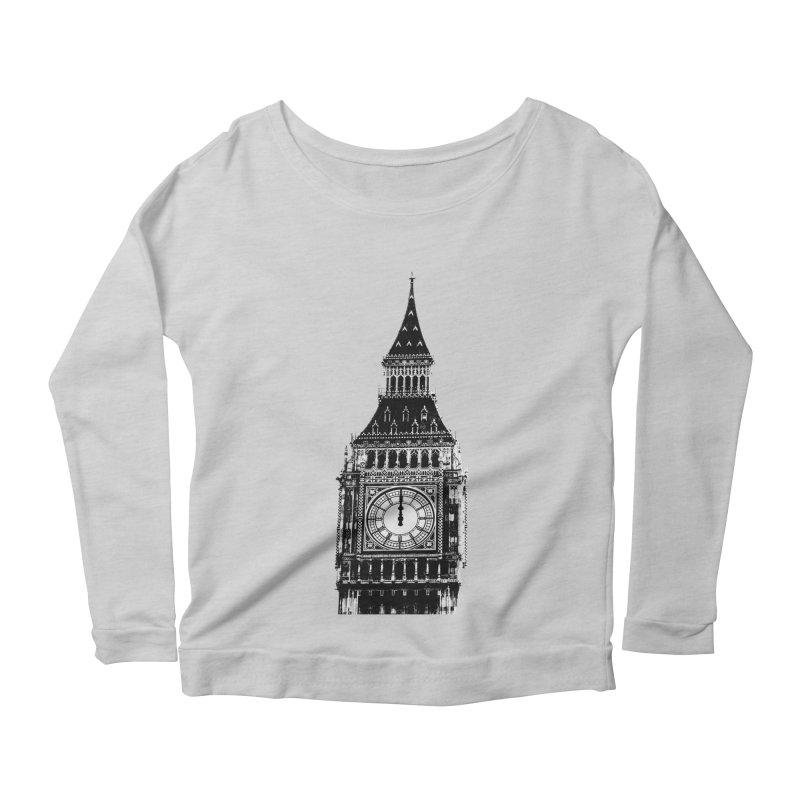 Big Ben Strikes Twelve Women's Scoop Neck Longsleeve T-Shirt by Ugovi Artist Shop