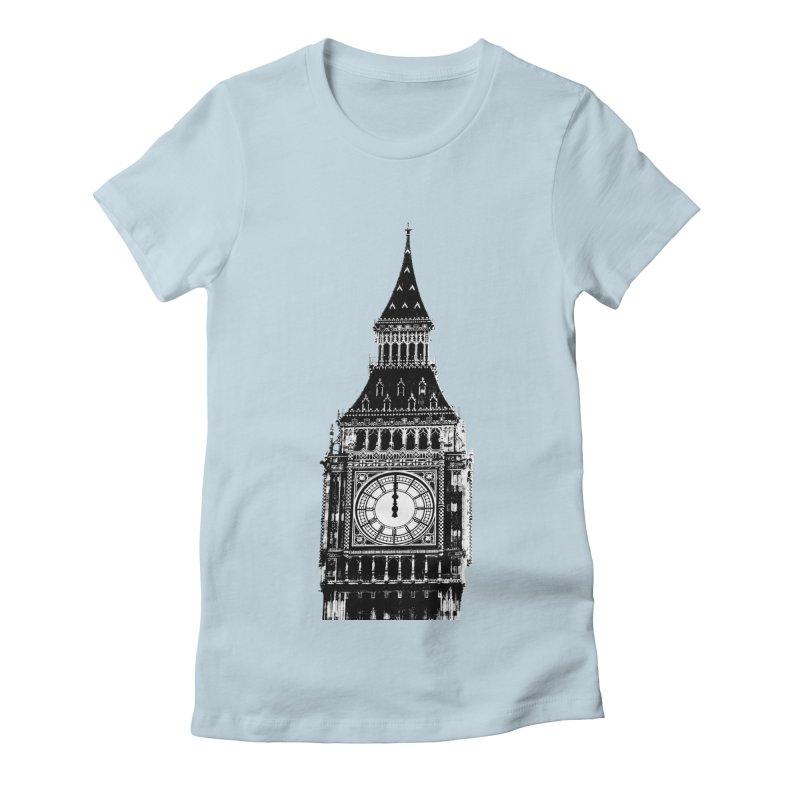 Big Ben Strikes Twelve Women's Fitted T-Shirt by Ugovi Artist Shop