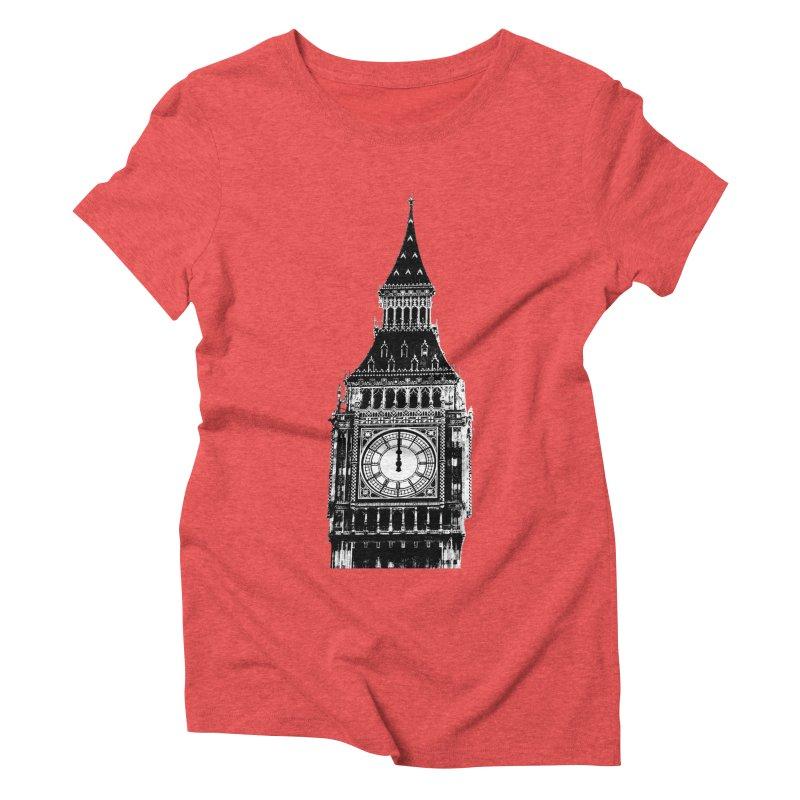 Big Ben Strikes Twelve Women's Triblend T-Shirt by Ugovi Artist Shop