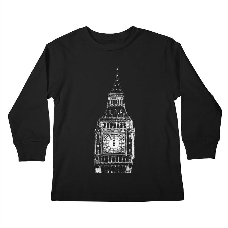 Big Ben Strikes Twelve Kids Longsleeve T-Shirt by Ugovi Artist Shop