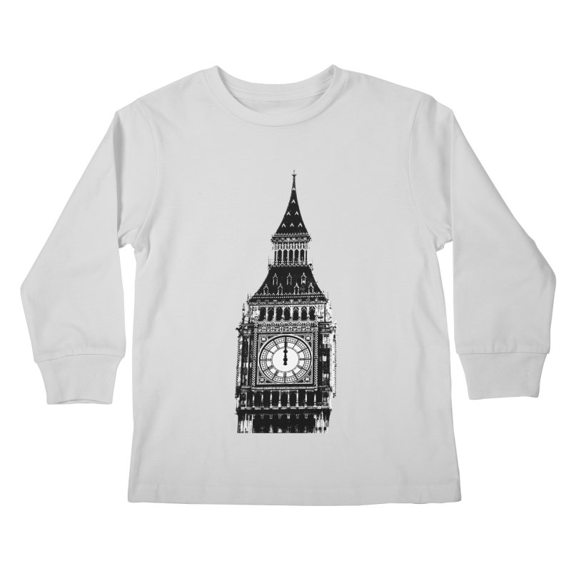Big Ben Strikes Twelve Kids Longsleeve T-Shirt by Ugovi Artist Shop