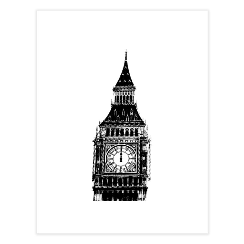 Big Ben Strikes Twelve Home Fine Art Print by Ugovi Artist Shop