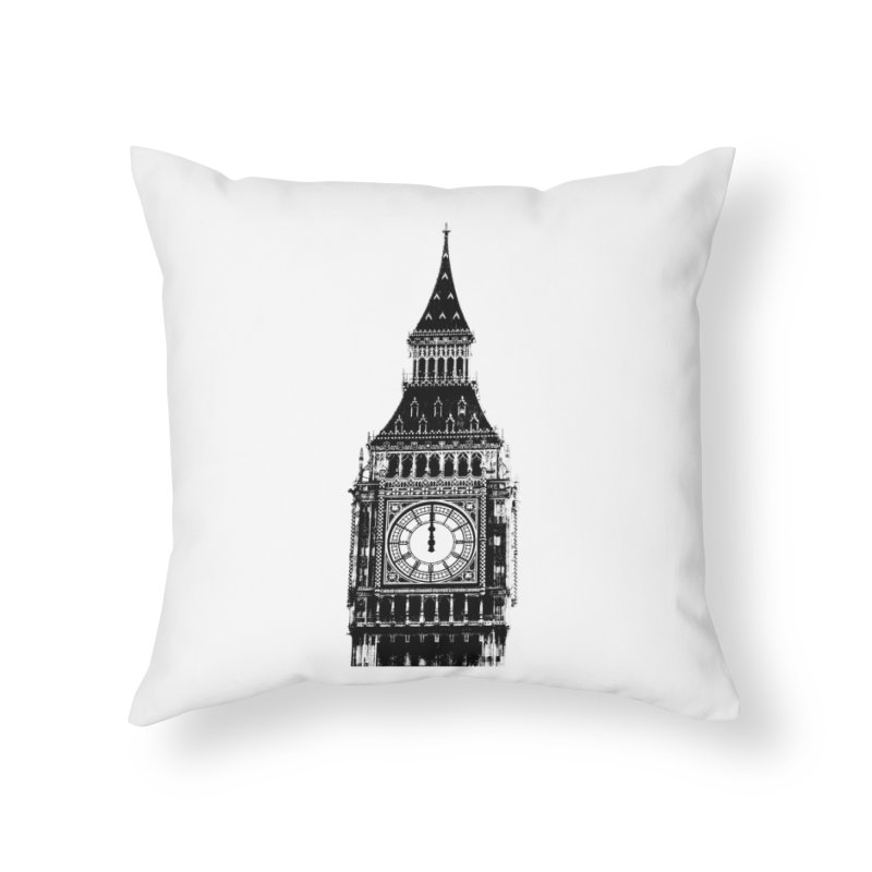 Big Ben Strikes Twelve Home Throw Pillow by Ugovi Artist Shop