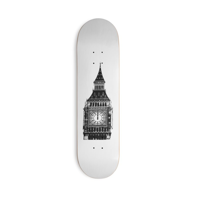 Big Ben Strikes Twelve Accessories Deck Only Skateboard by Ugovi Artist Shop