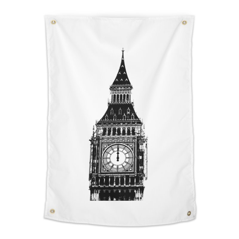 Big Ben Strikes Twelve Home Tapestry by Ugovi Artist Shop