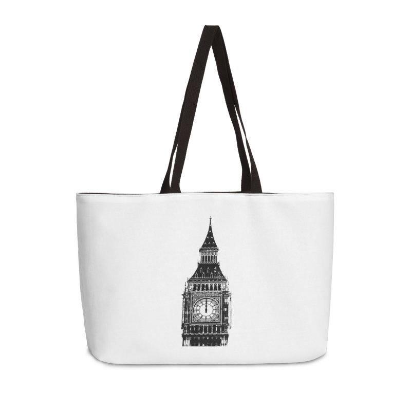 Big Ben Strikes Twelve Accessories Weekender Bag Bag by Ugovi Artist Shop