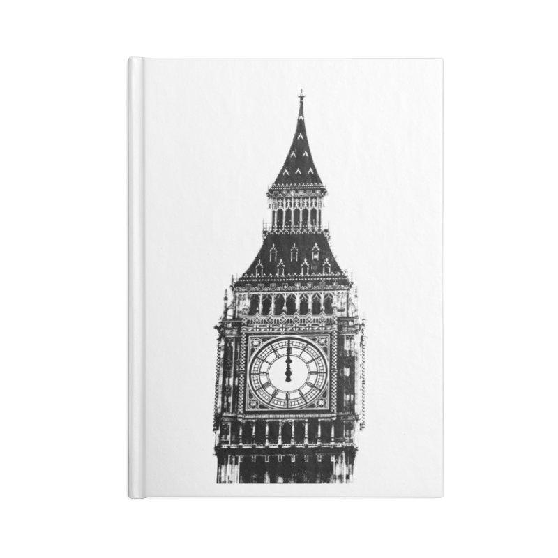Big Ben Strikes Twelve Accessories Lined Journal Notebook by Ugovi Artist Shop