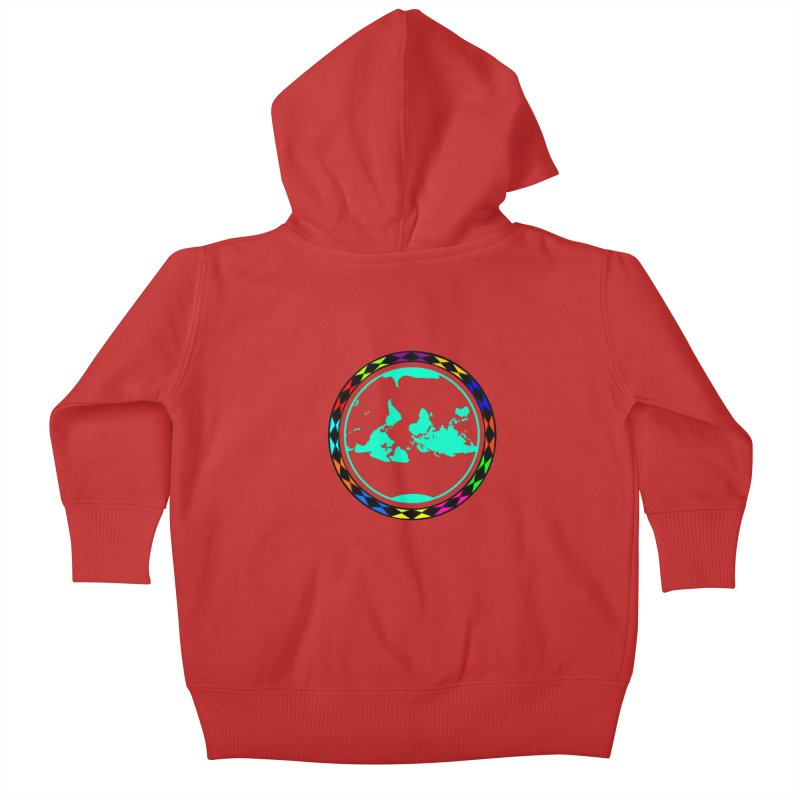 New Vision UN - Center Chest Kids Baby Zip-Up Hoody by Ugovi Artist Shop